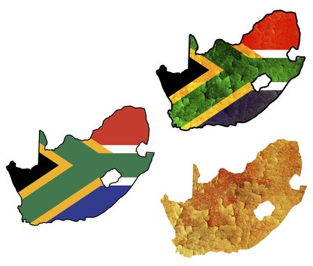 some very old grunge flag on territory of south africa Stock Photo - 5550924