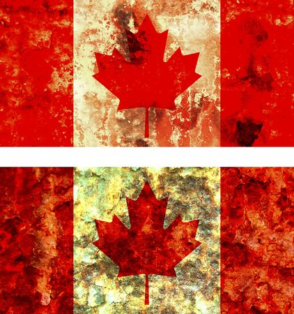 some very old grunge flag of canada photo