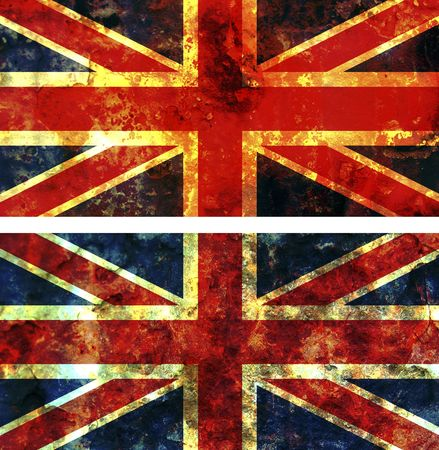 some very old grunge flag of great britain photo