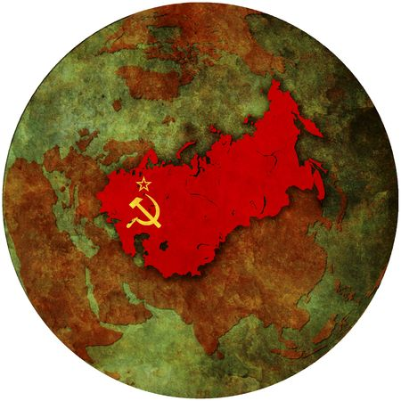 3d view from space on southern hemisphere with ussr flag Stock Photo - 6149104