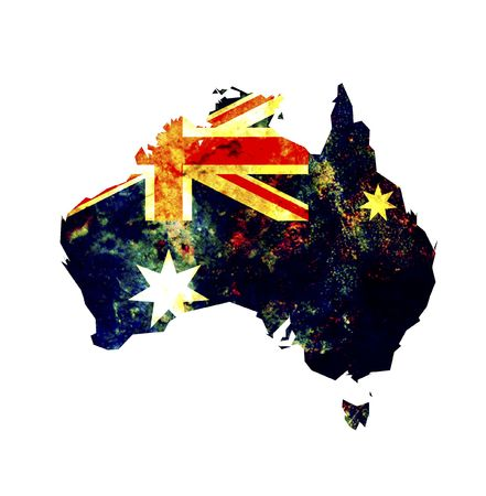 some very old grunge flag and territory of australia Stock Photo