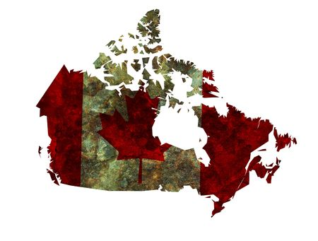 some very old grunge flag and territory of canada photo