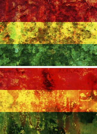 some very old grunge flag of bolivia Stock Photo - 6149678