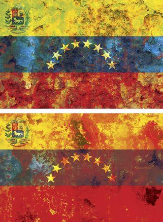 hugo: some very old grunge flag of venezuela