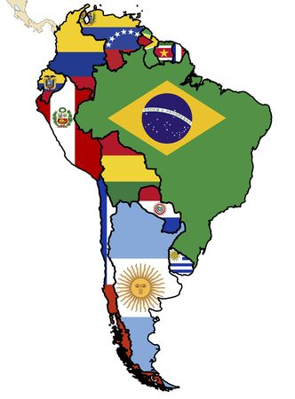 some map of south american countries photo