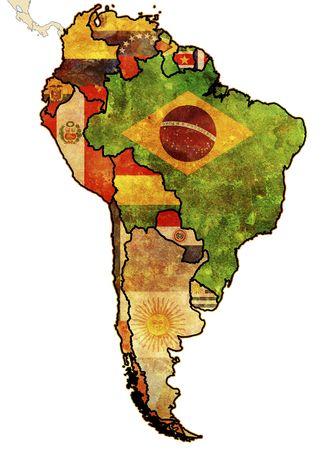 south america: algunos muy viejo mapa de grunge de pa�ses de Am�rica del sur