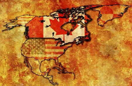 some very old grunge map of canada photo