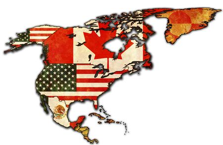 some very old grunge map of NAFTA photo