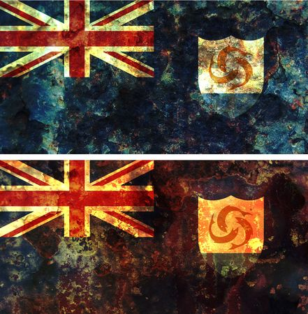 some very old grunge flag of anguilla photo