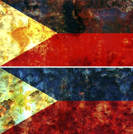 some very old grunge flag of Philippines Stock Photo - 6436763