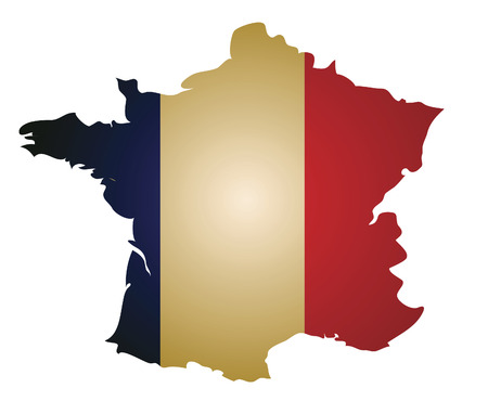 some old vintage map with flag of france Vector