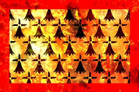 limousin: some very old grunge flag of Limousin Stock Photo