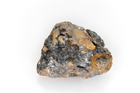 sulfide: Galena is the natural mineral form of lead sulfide Stock Photo