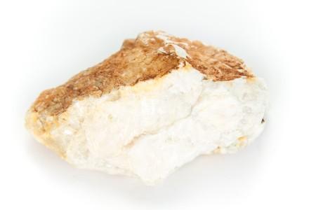 barium: macro shot of baryte, mineral consisting of barium sulfate Stock Photo