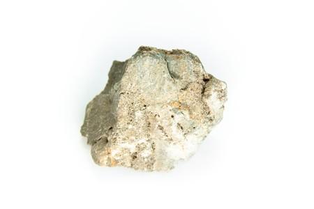 sphalerite: detailed macro shot of sphalerite isolated on white Stock Photo