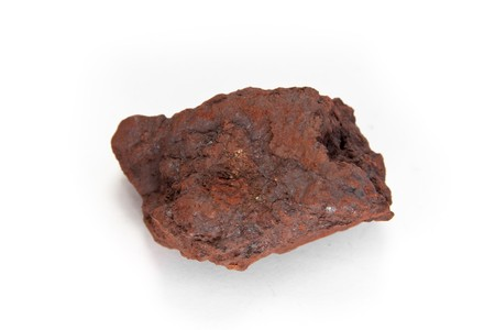 ore: macro shot of Hematite,  the mineral form of iron oxide