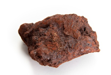 macro shot of Hematite,  the mineral form of iron oxide
