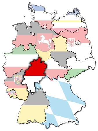 Hessen on old administration map of german provinces (states)  photo