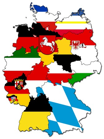old administration map of german provinces (states)  photo