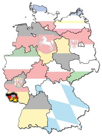 saarland: Saarland on old administration map of german provinces