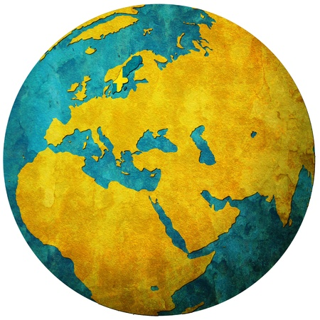 sweden territory with flag on map of globe Stock Photo - 9247830