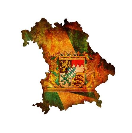 bavaria: isolated map of bavaria region with flag
