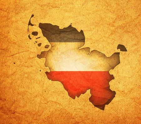 holstein: isolated map of schleswig holstein region with flag