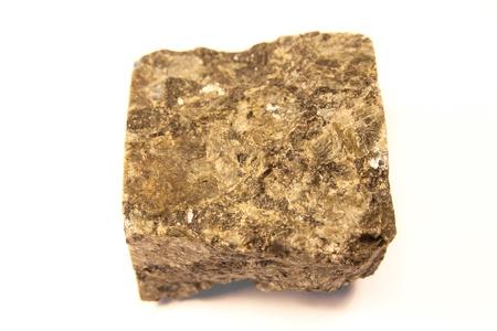 igneous: macro shot of igneous stone isolated over white background
