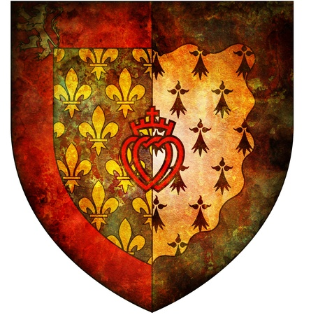pays: old isolated over white coat of arms of pays de la loire