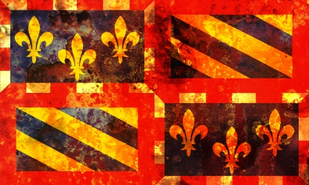 some very old grunge flag of Bourgogne photo