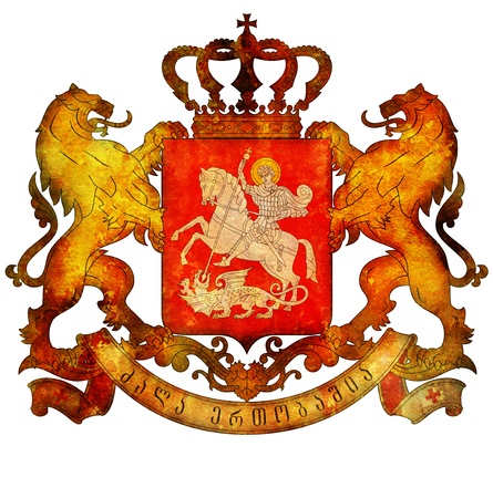 old isolated over white coat of arms of georgia