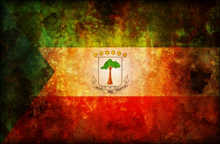 old isolated over white coat of arms of equatorial guinea photo