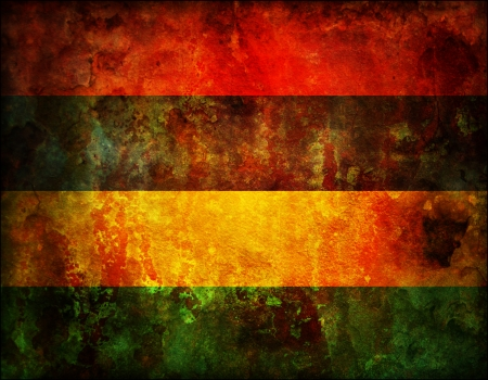 mauritius: some old vintage flag of african country mauritius