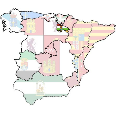 la rioja region on administration map of regions of spain with flags and emblems photo