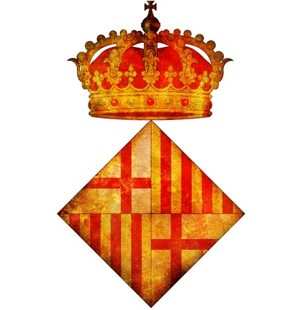 old vintage isolated over white symbol of barcelona Stock Photo - 17231181