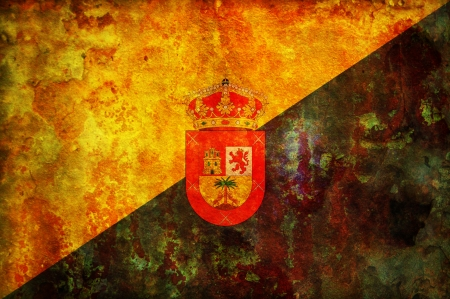 gran: some very old vintage flag of gran canaria