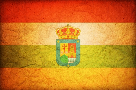 some very old vintage flag of la rioja Stock Photo - 17231349
