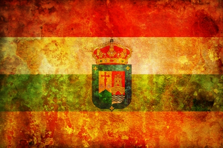 some very old vintage flag of la rioja photo