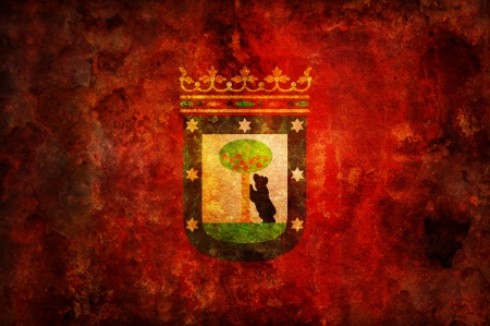 some very old vintage flag of madrid Stock Photo - 17231177