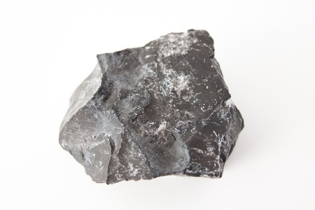 isolated over white macro photo of basalt
