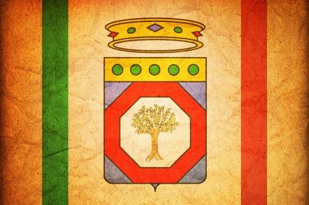 old vintage flag of apulia region in italy Reklamní fotografie
