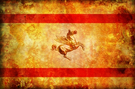 old vintage flag of tuscany region in italy photo