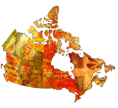 edward: prince edward island on administration map of canada with flags