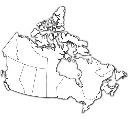 administration map of canada with flags of administrative divisions photo