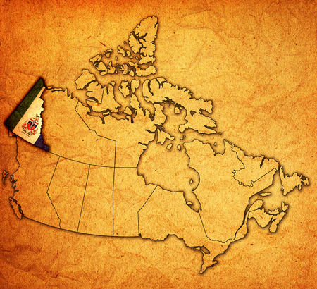 Yukon on administration map of canada with flags stock photo yukon on administration map of canada with flags stock photo picture and royalty free image image 26726593 gumiabroncs Gallery