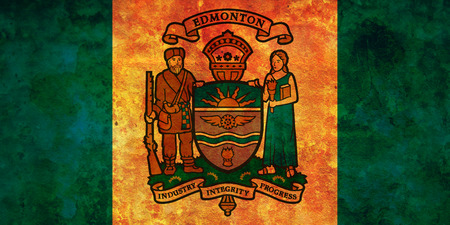 edmonton: some very old vintage flag of edmonton