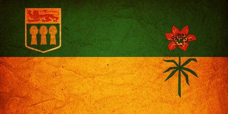 some very old vintage flag of saskatchewan photo