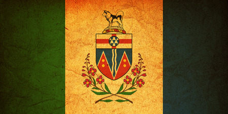 yukon: some very old vintage flag of yukon