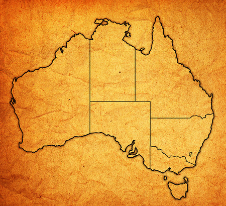 territories: borders of territories on map of australia with administrative divisions