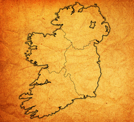 Borders And Territories Of Provinces On Map Of Ireland Stock Photo - Ireland provinces map
